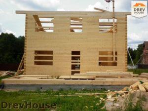 Строительство дома из бруса в поселке Жилево   фаза 10