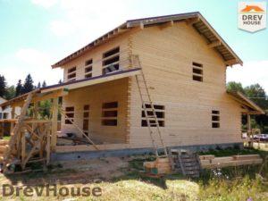 Строительство дома из бруса в поселке Жилево   фаза 11