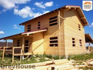 Строительство дома из бруса в поселке Жилево   фаза 12