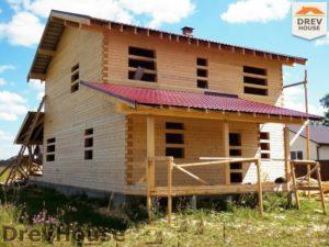 Строительство дома из бруса в поселке Жилево   фаза 13