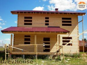 Строительство дома из бруса в поселке Жилево   фаза 14