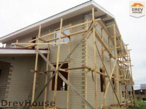 Строительство дома из бруса в поселке Жилево   фаза 15