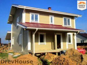 Строительство дома из бруса в поселке Жилево   фаза 18