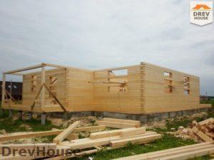 Строительство дома из бруса в поселке Жилево   фаза 2