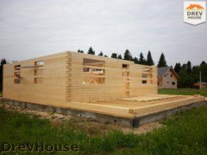 Строительство дома из бруса в поселке Жилево   фаза 3