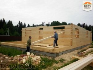 Строительство дома из бруса в поселке Жилево   фаза 4