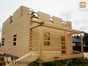 Строительство дома из бруса в поселке Жилево   фаза 5