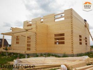 Строительство дома из бруса в поселке Жилево   фаза 6