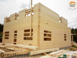 Строительство дома из бруса в поселке Жилево   фаза 7
