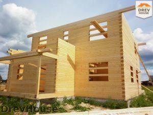 Строительство дома из бруса в поселке Жилево   фаза 8