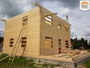Строительство дома из бруса в поселке Жилево   фаза 9