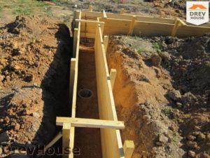 Строительство дома из бруса в поселке Жилино   фаза 1
