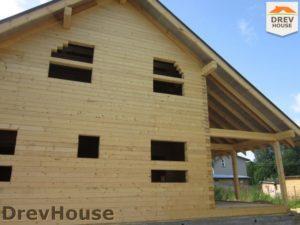 Строительство дома из бруса в поселке Жилино   фаза 10