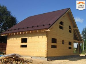 Строительство дома из бруса в поселке Жилино   фаза 11