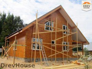 Строительство дома из бруса в поселке Жилино   фаза 12