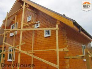 Строительство дома из бруса в поселке Жилино   фаза 13