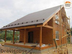 Строительство дома из бруса в поселке Жилино   фаза 14