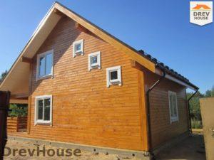 Строительство дома из бруса в поселке Жилино   фаза 16