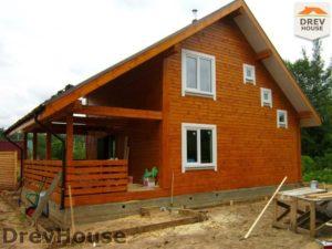 Строительство дома из бруса в поселке Жилино   фаза 18
