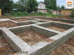 Строительство дома из бруса в поселке Жилино   фаза 3