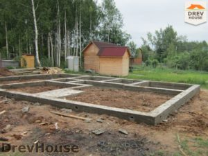 Строительство дома из бруса в поселке Жилино   фаза 4
