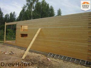 Строительство дома из бруса в поселке Жилино   фаза 5