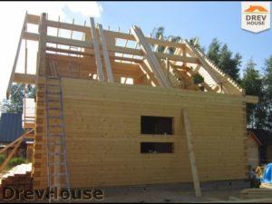 Строительство дома из бруса в поселке Жилино   фаза 6