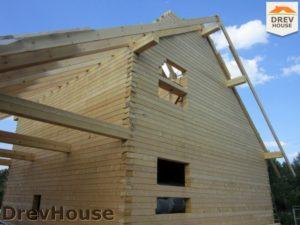 Строительство дома из бруса в поселке Жилино   фаза 7