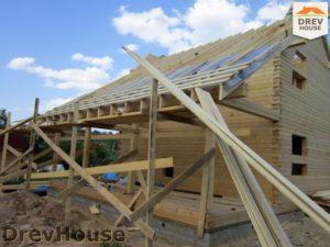 Строительство дома из бруса в поселке Жилино   фаза 8