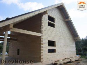 Строительство дома из бруса в поселке Жилино   фаза 9