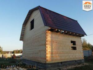 Строительство дома из бруса в поселке имени Цюрупы   фаза