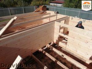 Строительство дома из бруса в поселке имени Цюрупы   фаза 1