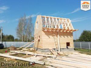 Строительство дома из бруса в поселке имени Цюрупы   фаза 10