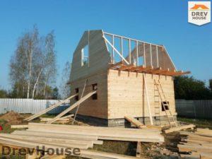 Строительство дома из бруса в поселке имени Цюрупы   фаза 11