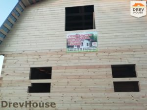 Строительство дома из бруса в поселке имени Цюрупы   фаза 16
