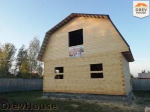 Строительство дома из бруса в поселке имени Цюрупы   фаза 17