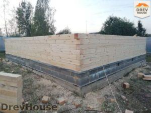 Строительство дома из бруса в поселке имени Цюрупы   фаза 2