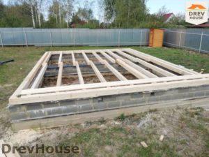 Строительство дома из бруса в поселке имени Цюрупы   фаза 4