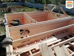 Строительство дома из бруса в поселке имени Цюрупы   фаза 5