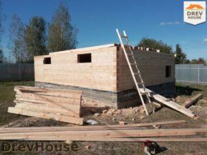 Строительство дома из бруса в поселке имени Цюрупы   фаза 6