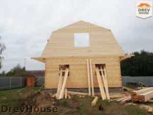 Строительство дома из бруса в поселке имени Цюрупы   фаза 7