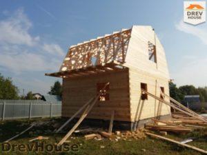 Строительство дома из бруса в поселке имени Цюрупы   фаза 9